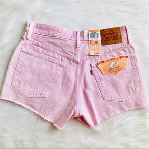 NWT Levi's Light Pink Cutoff High Festival Shorts